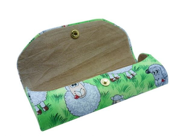 Crazy Animals Glasses Case Sheep