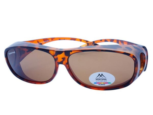 Montana Fit Over Polarised Sunglasses Matt Turtle + Brown Lenses