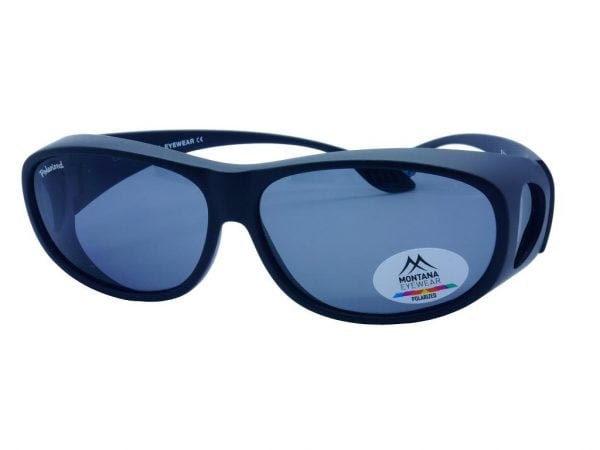 Montana Fit Over Polarised Sunglasses Matt Black & Smoke Lenses