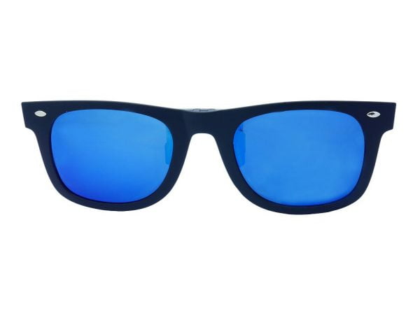 GoOpticians Sturdy Retro Style Polarised Clip On Flip Up Sunglasses