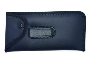 Black Belt Clip Glasses Pouch