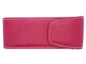Press Stud Executive Glasses Case - Red