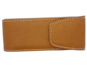 Press Stud Executive Glasses Case - Tan