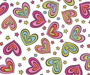 Go Optics Cute Rainbow Hearts Microfibre Glasses Cloth 18cm x 15cm