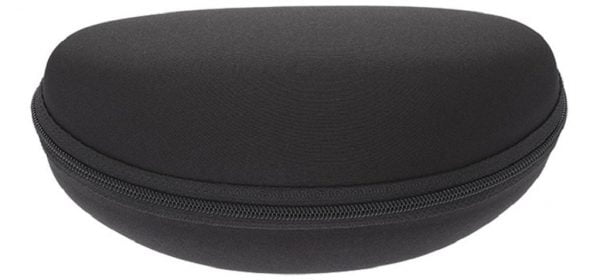 Black Zip Up Sunglasses Case - Large