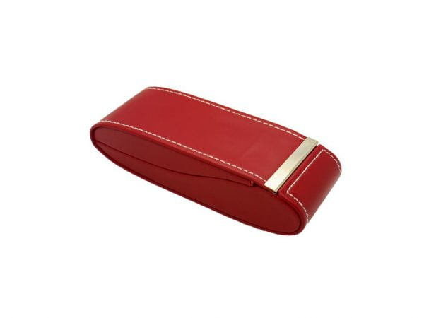 Magnetic Close Executive Glasses Case - Red